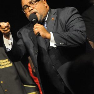 Bishop Davis preaching